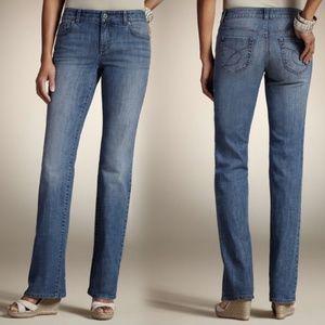 Chico's Platinum Ultimate Fit Straight Leg Jeans